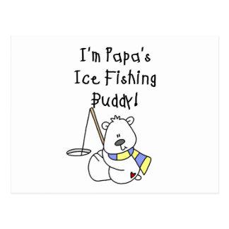 Papa's Ice Fishing Buddy Tshirts and Gifts Post Card