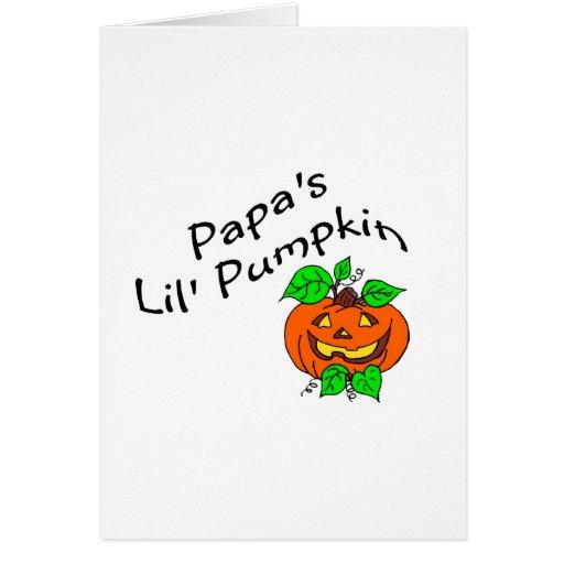 Papas Lil Pumpkin Cards