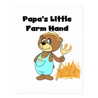Papa's Little Farm Hand Tshirts and Gifts Postcard