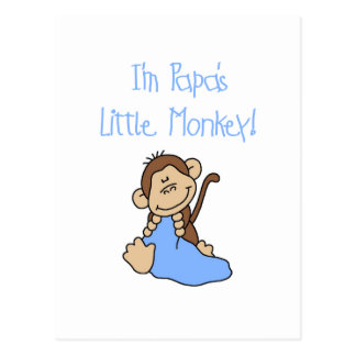 Papa's Little Monkey - Blue Tshirts and Gifts Postcard