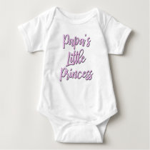 Papa's Little Princess bodysuit for baby