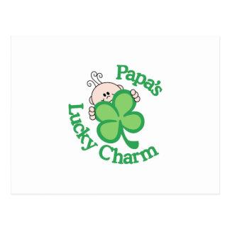 Papa's Lucky Charm Postcard