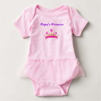 Papa's Princess Personalized Baby Bodysuit