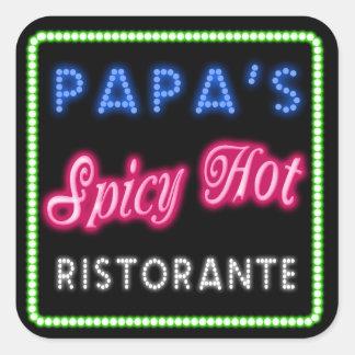 Papa's Spicy Hot Ristorante ID235 Square Sticker