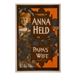 Papa's Wife - Theater Poster #4 print