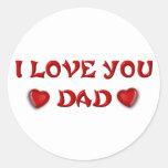 Papás y padres (7-9) pegatina redonda