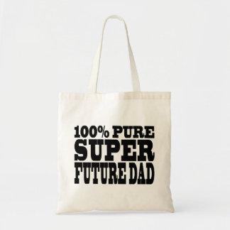 Papás y padres a ser: Papá futuro estupendo puro d Bolsa Lienzo