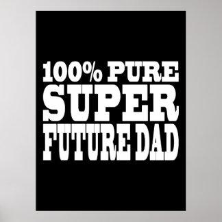 Papás y padres a ser Papá futuro estupendo puro d Posters