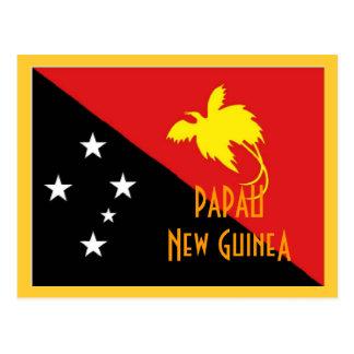 Papau New Guinea flag Postcard