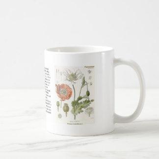 Papaver somniferum coffee mug