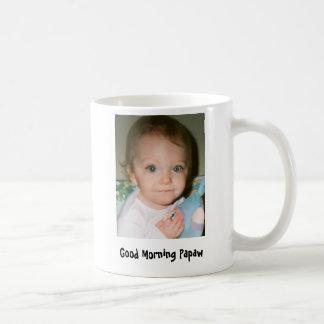Papaw de la buena mañana taza de café