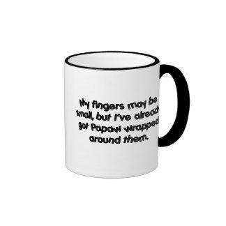 Papaw envuelto tazas de café