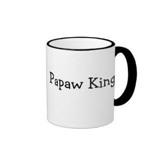 Papaw King 11 oz Ringer Coffee Mug