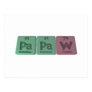 Papaw-Pa-Pa-W-Protactinium-Protactinium-Tungsten.p Postcard