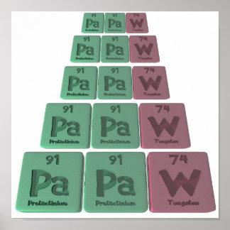 Papaw-Pa-Pa-W-Protactinium-Protactinium-Tungsten.p Print