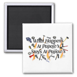 Papaws 2 Inch Square Magnet