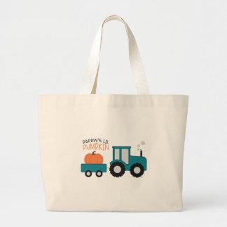 Papaw's Lil Pumpkin Large Tote Bag