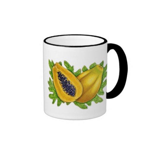 Papaya botánica tazas de café