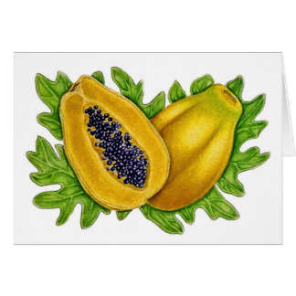 Papaya Botanical Card