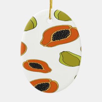 Papaya fruit pattern ceramic ornament