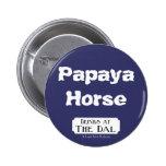 Papaya Horse 2 Inch Round Button