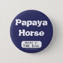 Papaya Horse Pinback Button