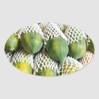 Papaya Oval Sticker