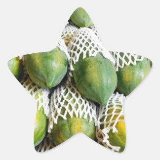 Papaya Star Sticker