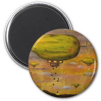 Papaya Sunset 2 Inch Round Magnet