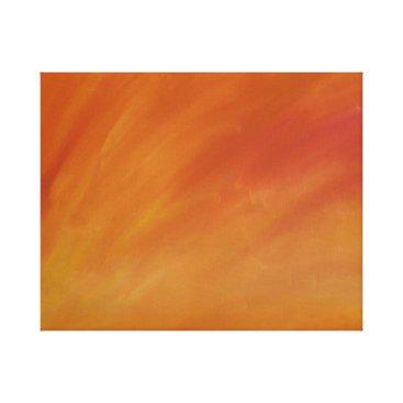 Beach Themed Papaya Sunset Canvas Print