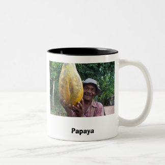 Papaya Taza Dos Tonos