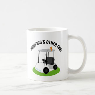 Papayas el otro coche (carro de golf) taza