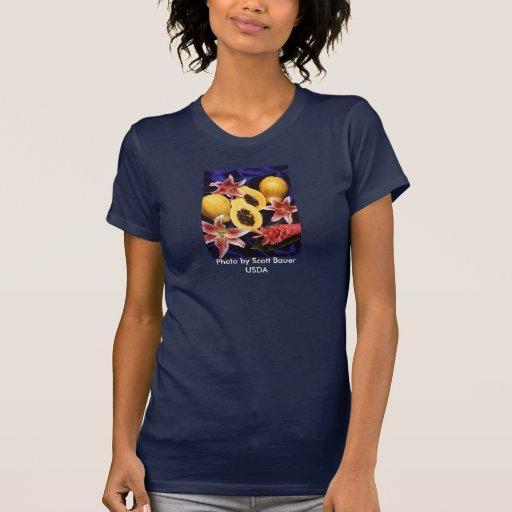 Papayas hawaianas, Carica papaya Camisetas