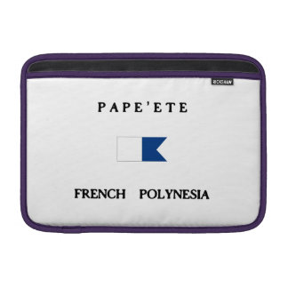 Pape ete French Polynesia Alpha Dive Flag Sleeve For MacBook Air