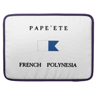 Pape ete French Polynesia Alpha Dive Flag Sleeves For MacBooks