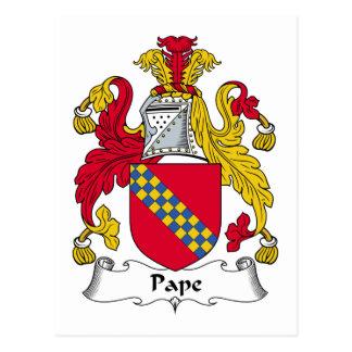 Pape Family Crest Postcard
