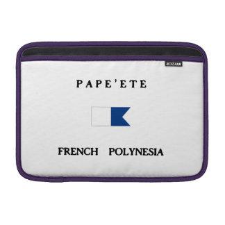 Pape'ete French Polynesia Alpha Dive Flag MacBook Air Sleeve