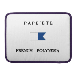 Pape'ete French Polynesia Alpha Dive Flag MacBook Pro Sleeves
