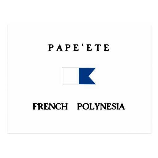 Pape'ete French Polynesia Alpha Dive Flag Post Card