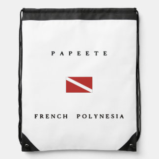 Papeete French Polynesia Scuba Dive Flag Backpack