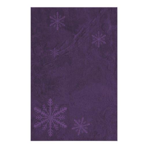 Papel 4 del copo de nieve - púrpura oscura papelería