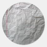 Papel alineado arrugado etiquetas