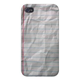 Papel alineado arrugado iPhone 4 fundas