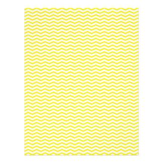 """Papel amarillo de Chevron/del libro de recuerdos d Folleto 8.5"""" X 11"""""""