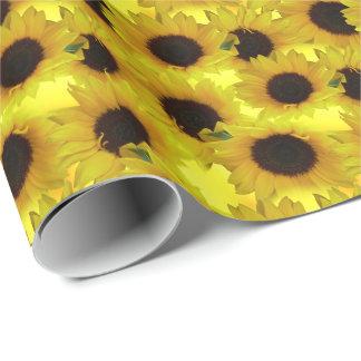 Papel amarillo de la flor del papel de embalaje papel de regalo