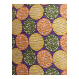 Papel anaranjado de Scrapbooking del limón de la c Plantillas De Membrete