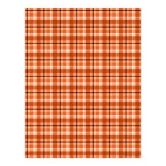 Papel anaranjado del libro de recuerdos de la tela membrete personalizado
