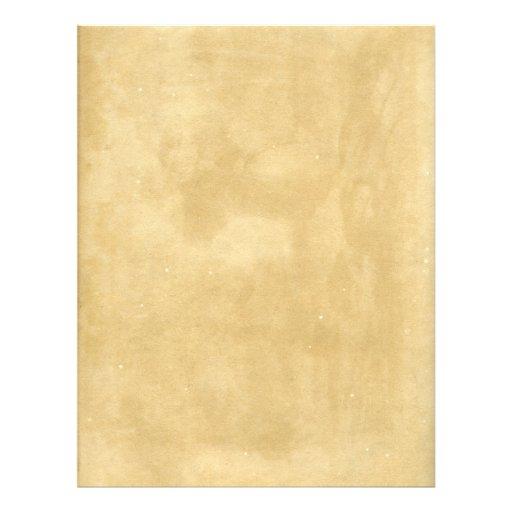 """Papel antiguo en blanco manchado envejecido folleto 8.5"""" x 11"""""""