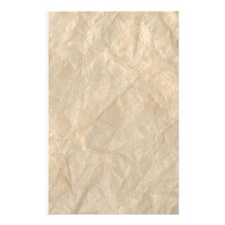 Papel arrugado de la arruga papelería de diseño