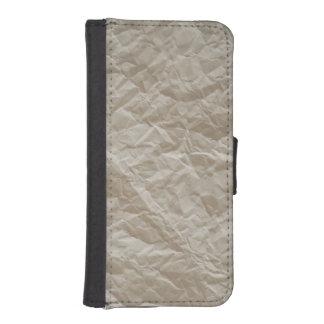 Papel arrugado funda tipo billetera para iPhone 5